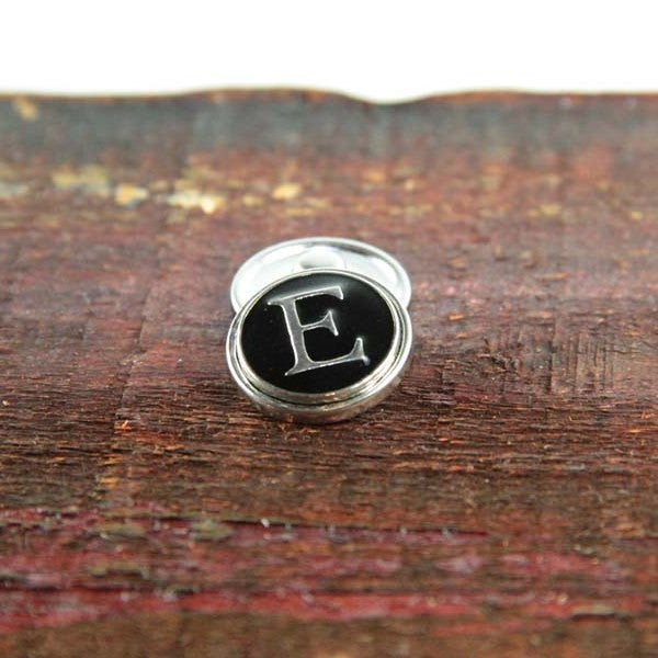 Letter E in Black & Silver - Mya Grace - Snap Jewelry
