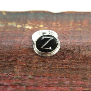 Letter Z in Black & Silver - Mya Grace - Snap Jewelry