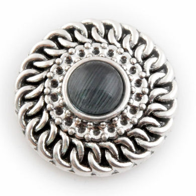 All Wound Up with Black Center Stone - Mya Grace - Snap Jewelry