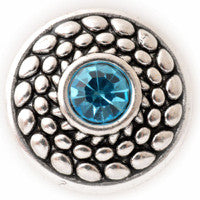 Pebbles with a Blue Center Stone - Mya Grace - Snap Jewelry