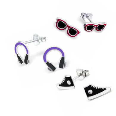All the Cool Kids Earring Set - Mya Grace - Snap Jewelry