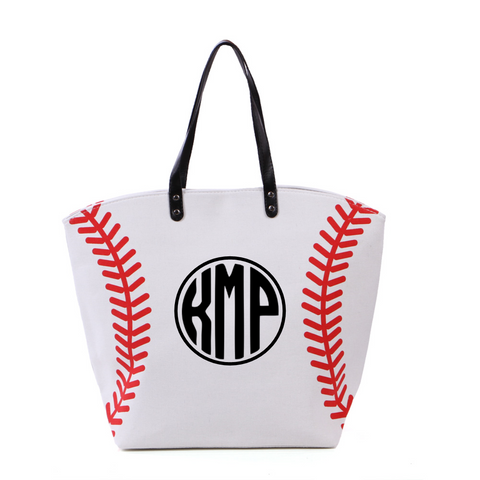 Baseball Bag with Circle Monogram