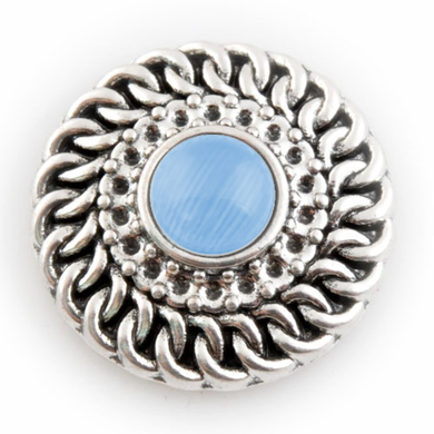 All Wound Up with Blue Center Stone - Mya Grace - Snap Jewelry