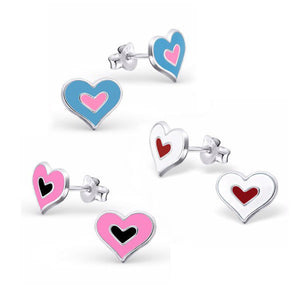 Double Hearts Earring Set - Mya Grace - Snap Jewelry