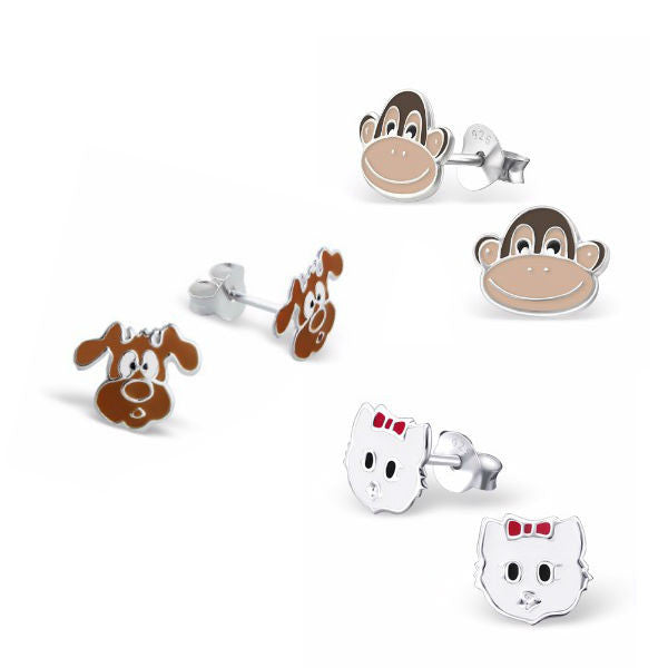 Furry Faces Earring Set - Mya Grace - Snap Jewelry