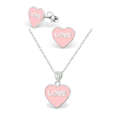 Love Candy Necklace & Earring Set - Mya Grace - Snap Jewelry