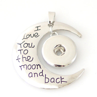 To the Moon and Back Pendant - Mya Grace - Snap Jewelry