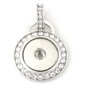 Rhinestone Wrapped Pendant - Mya Grace - Snap Jewelry