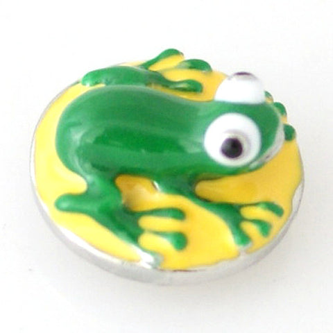 3D Green Frog - Mya Grace - Snap Jewelry