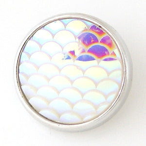 Fish Scales in White - Mya Grace - Snap Jewelry