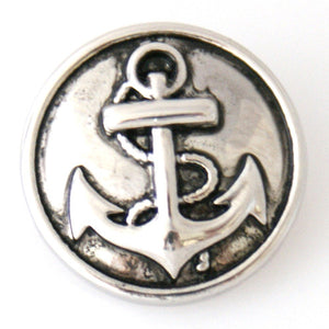 Silver Anchor - Mya Grace - Snap Jewelry
