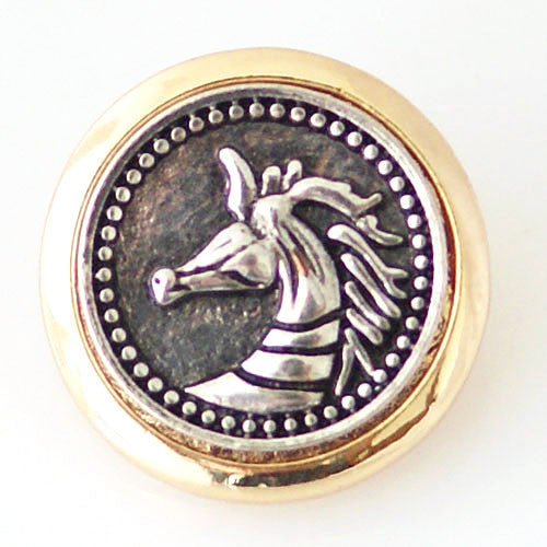 Silver Horse with a Gold Band - Mya Grace - Snap Jewelry