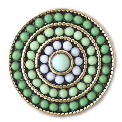 Beaded Rings in Green - Mya Grace Jewelry