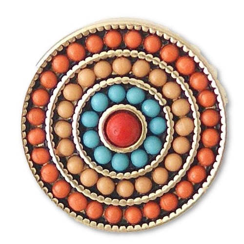 Beaded Rings in Orange - Mya Grace Jewelry