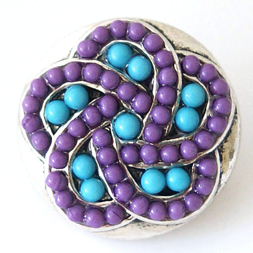 Intertwined with Purple and Blue Beads - Mya Grace - Snap Jewelry