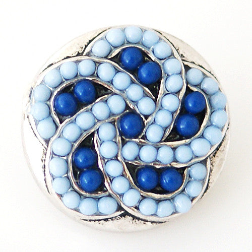 Intertwined with Blue Beads - Mya Grace - Snap Jewelry