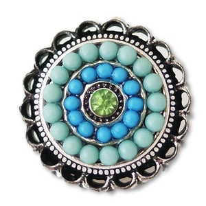 Fancy Beaded Rings in Blue - Mya Grace Jewelry