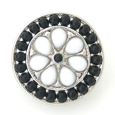 Beaded Circle in Black & White - Mya Grace - Snap Jewelry