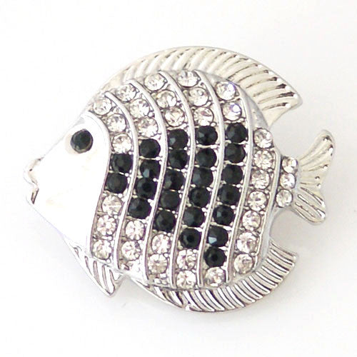 Rhinestone Pufferfish - Mya Grace - Snap Jewelry