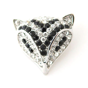 Rhinestone Fox - Mya Grace - Snap Jewelry