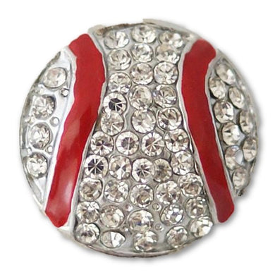 Bling Baseball with Red Seams - Mya Grace Jewelry