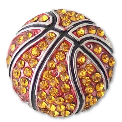 Bling Basketball with Orange Rhinestones - Mya Grace Jewelry