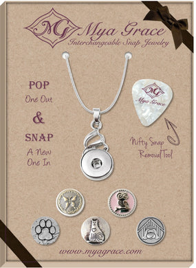 Animal Lover Gift Set with Twist Pendant - Mya Grace - Snap Jewelry