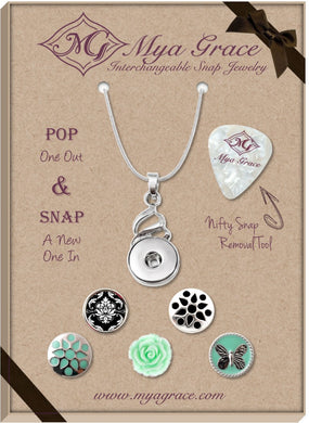 Teal Tales Gift Set with Twist Pendant - Mya Grace - Snap Jewelry