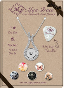 Butterfly Kisses Gift Set with Wave Pendant - Mya Grace - Snap Jewelry