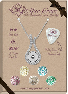 Curly Q Gift Set with Wave Pendant - Mya Grace - Snap Jewelry