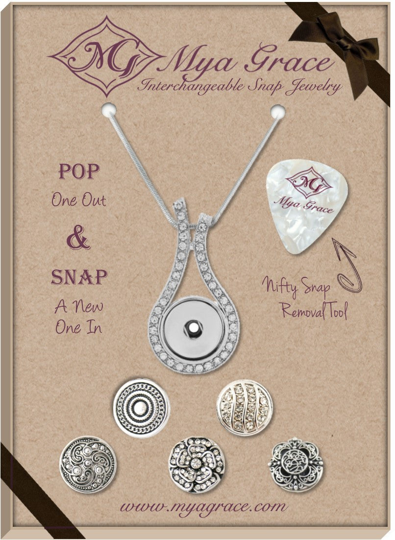 Simply Silver Gift Set with Wave Pendant - Mya Grace - Snap Jewelry