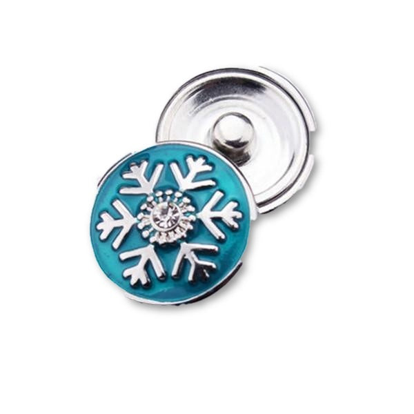 Christmas Snap - Blue Snowflake - Mya Grace Jewelry