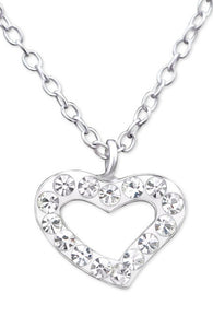 Crystal Heart Necklace - Mya Grace - Snap Jewelry