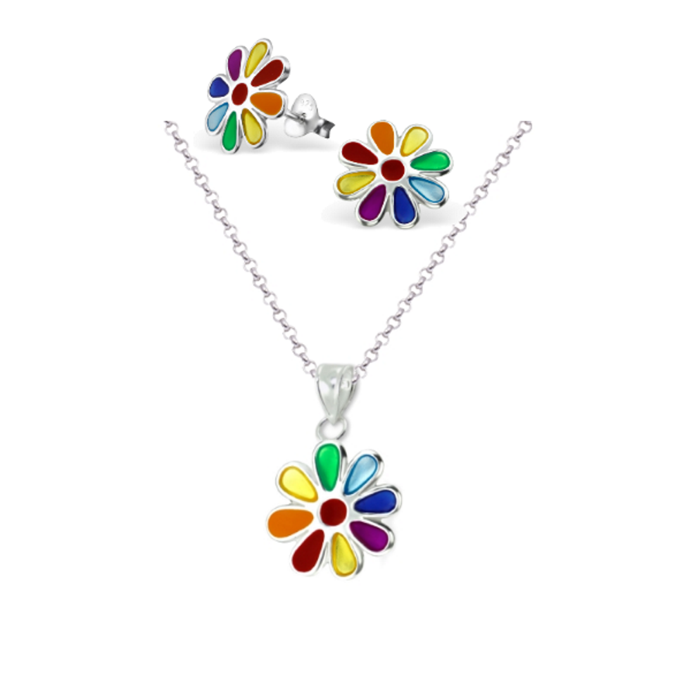 Daisy Necklace & Earring Set - Mya Grace - Snap Jewelry