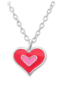 Double Heart Necklace - Mya Grace - Snap Jewelry