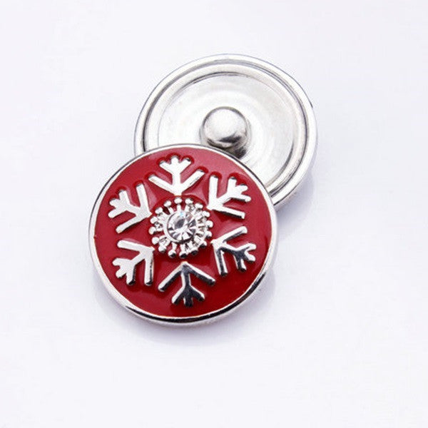 Christmas Snap - Red Snowflake - Mya Grace - Snap Jewelry