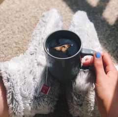 Heat Therapy relaxation with Warmies® Grey Boots