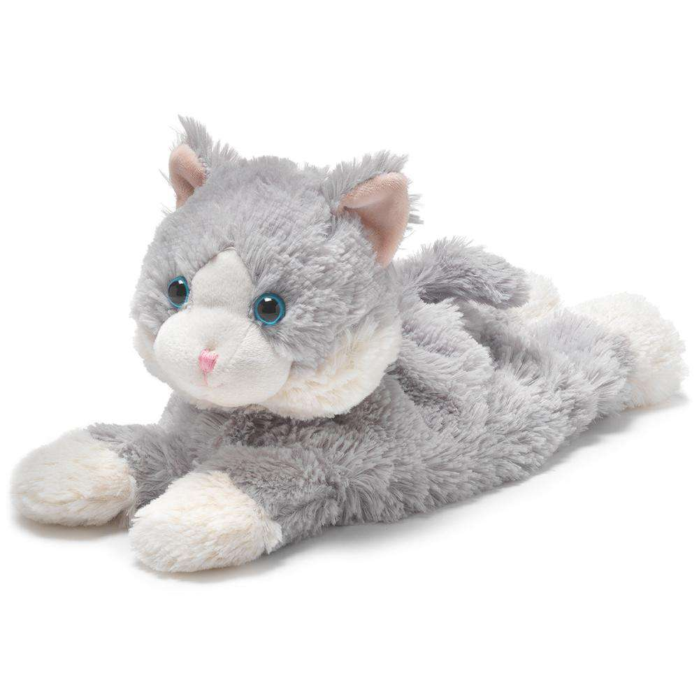 "Laying Down Gray Cat Warmies (13"") - Warmies USA"