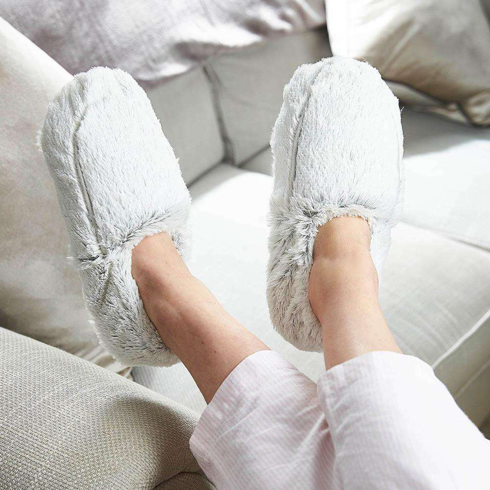 Marshmallow Gray Warmies Slippers - Warmies USA