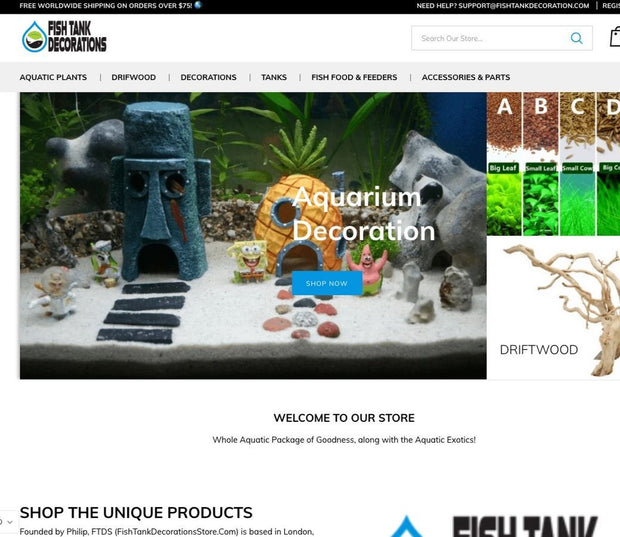 Aquairum And Aquascaping Premade Dropshipping Shopify Websites
