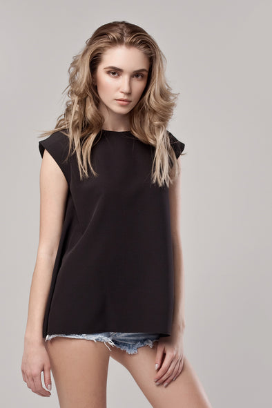 Top Simple Negru