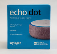 Amazon Echo Dot (Generation 3) - Plum - Alexa Voice Assistant - USED (With Box)!