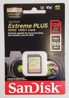 SanDisk Extreme Plus 128GB SDXC UHS-I Card - NEW!