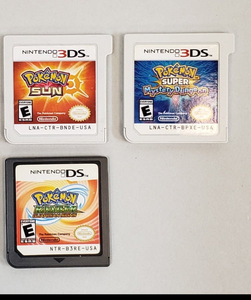 Nintendo 3DS & DS Lot Of 3 Pokemon Games - USED - Cartridges only!