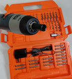 Black & Decker 9072 Cordless 2.4 Volt Screwdriver With Drill Bit Set & Case -USED - Missing 2 Bits!