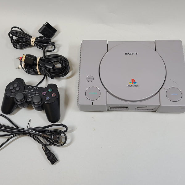 Sony Playstation 1 SCPH-9001 Gray Console, Controller, Cords Used