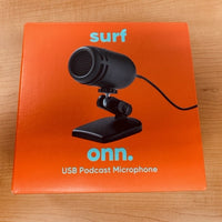 Surf Onn Usb Podcast Microphone Mic For Laptops MAC/PC Model:100009002 - NEW in Open Box