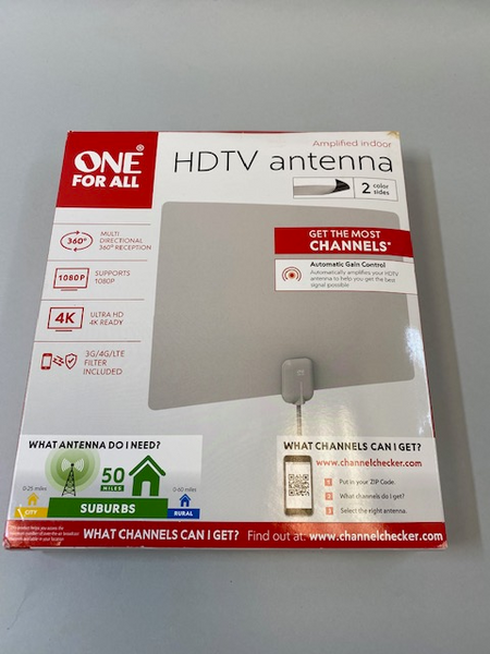One For All HDTV Amplified Indoor Antenna - NEW Open Box