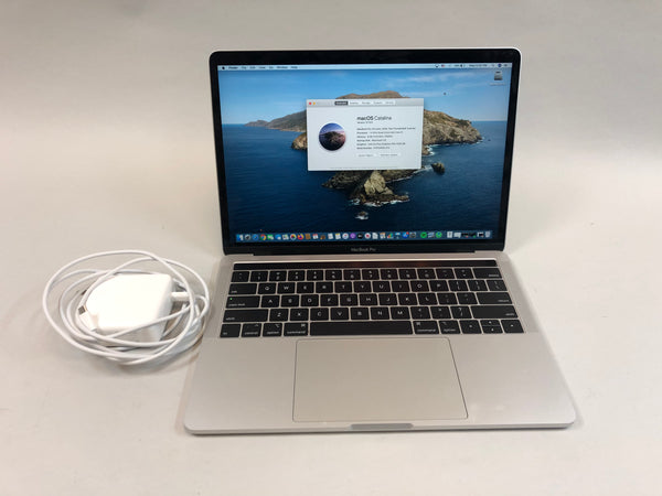 "Apple MacBook Pro 13"" 2019 A2159 Silver 256GB SSD 8GB RAM 1.4GHz Intel Core i5 Used"