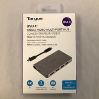 Targus USB-C Single Video Multi-Port Hub - New